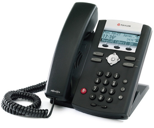 Polycom SoundPoint IP 331 VoIP Phone (2 line PoE), 2200-12365-025