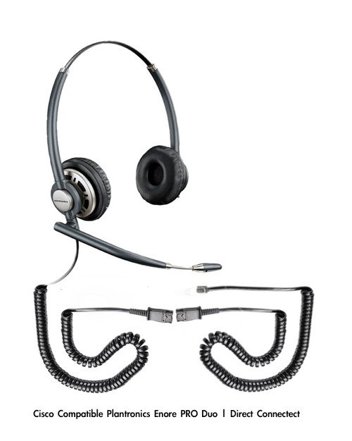 Plantronics Encore PRO Duo Wideband Headset, HW301N | Aastra Compatible Direct Connect