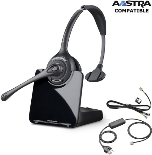 Aastra compatible Plantronics CS510 EHS Bundle | Wireless Headset, 66664-14-B-AST | 5370, 5370ip, 5380, 5380ip, 6751i, 6753i, 6755i, 6757i, 6757CTi, 6751i, 6753i,6755i, 6757i, 6757CTi, 6739i, 6771, 6773ip, 6775ip, 7434ip, 7444ip