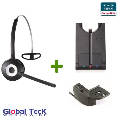 Cisco compatible Jabra PRO 920 Wireless Headset Bundle
