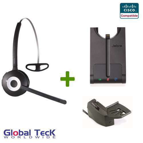 Cisco compatible Jabra PRO 920 Wireless Headset Bundle