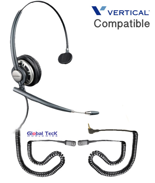 Comdial Vertical Compatible Plantronics Ultra-Noise Canceling Headset HW291N | For Polycom: SE220, SE225, ip301, ip320, ip321, ip330, ip335, 3616,3626, 3641, 3645, 8020, 8030