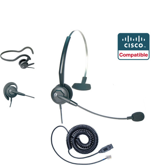 Cisco Compatible Tria Triple Play Convertible Headset by VXi | Cisco IP Phones: 7930's, 7940's, 7960, 7970's | 89xx and 99xx Series (VXI-202786-DCC)