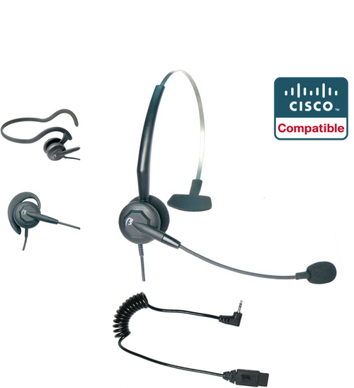 Linksys Cisco SPA Compatible Tria 3-in-1 Convertible Direct Connect Headset | Linksys SPA phones: 303G, 501G, 508G, 921, 941, 942 | VXI-202795-NCD-2.5