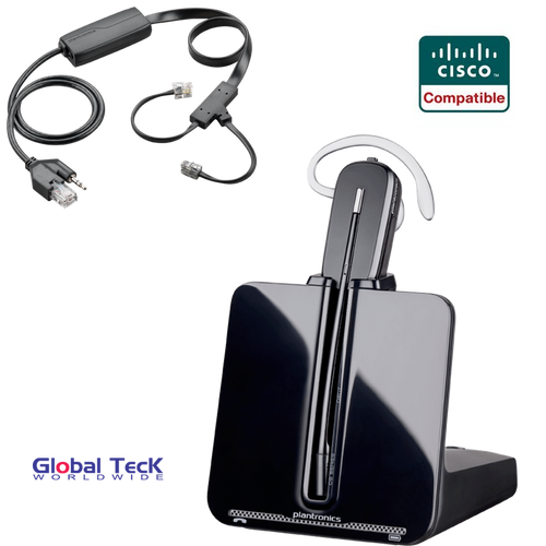 Cisco Compatible Plantronics Wireless - CS540 Bundle with Electronic Remote Answering (EHS) - 84693 | For Cisco phones: 8841, 8851, 8861, 7821, 7841, 7861, 7942g, 7945g, 7962g, 7965g, 7975g, 6945