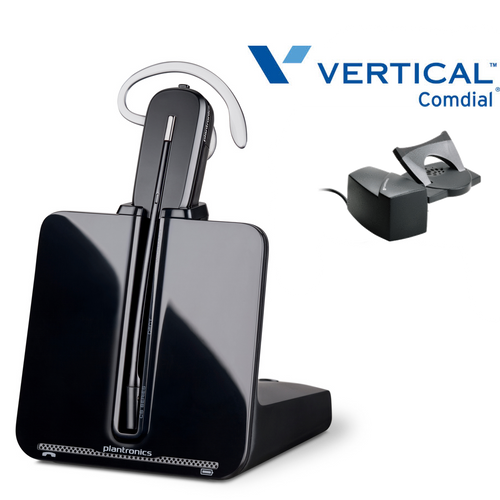 Comdial Vertical Compatible Plantronics Wireless Headset CS540 Bundle | Remote Answerer Included| For MBX, SBX IP Phones: 320, DX-80, 7260 | Edge 120, 700, 4000, 8000, | Vodavi Starplus STS