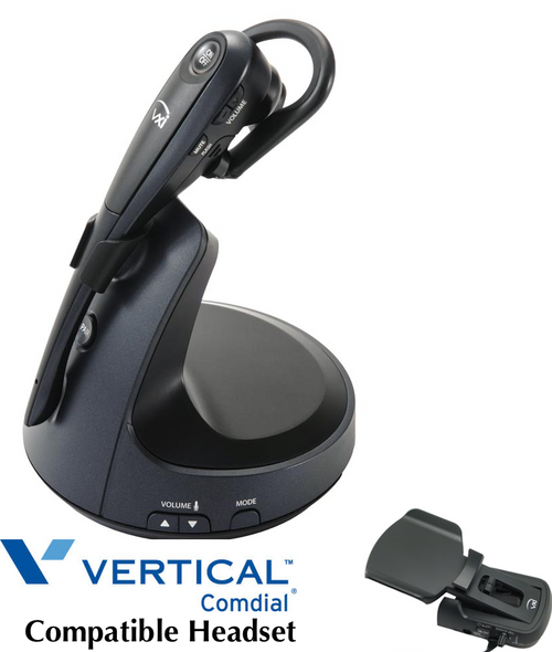 Comdial Vertical Compatible VXI V150 Wireless Headset Bundle | Remote Answerer Included| For MBX, SBX IP Phones: 320, DX-80, 7260 | Edge 120, 700, 4000, 8000, |