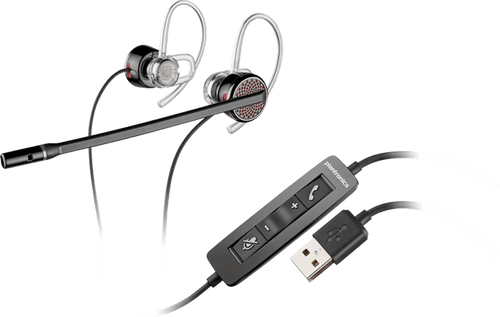Plantronics BLACKWIRE 435 USB CORDED EARBUD HEADSETwith Mic #85800-01 | Use with PC, MAC | Skype, Softphones, Gaming, Unified Communications, Dictations and more