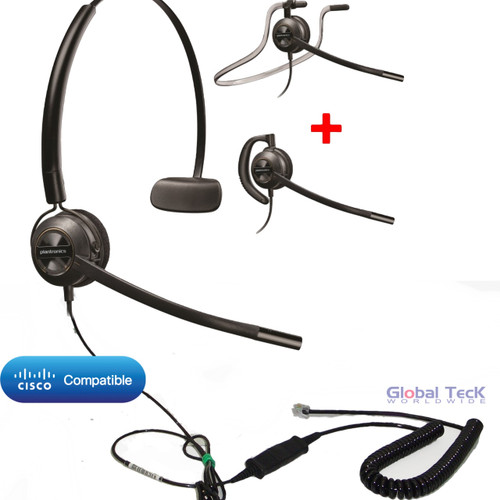 Plantronics ENCOREPRO 540 (HW540) Direct Connect for Cisco phones |  7931G, 7940, 7941G, 7942G, 7945G, 7960, 7961, 7961G, 7962G, 7965G, 7970, 7971,7971G, 7975, 7975G and other models with RJ-9 headset port