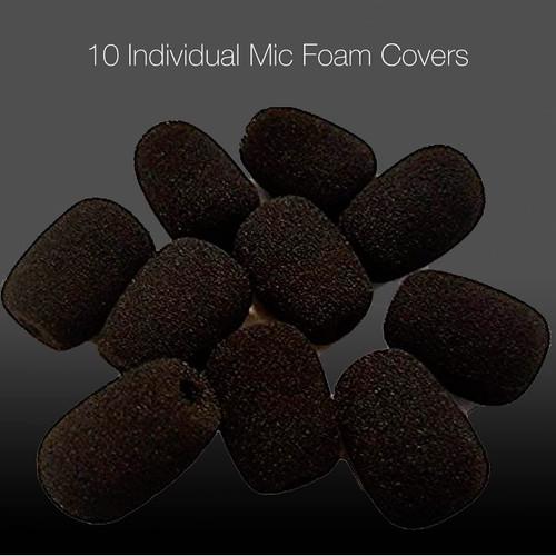 - Universal Foam Headset Microphone Windscreens - For Blue Parrot, Label, Lavalier microphones, B350 XT, B450, B250, VR-11, VR12, Plantronics, Jabra, VXi - Lux, Passport, Liberation