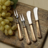 Maharaja Cheese Spreader & Fork 4 Pc. Set