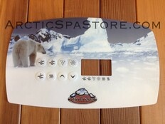 Topside Control Panel Overlay Sticker (2007 - Present) | Arctic Spas