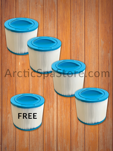 Buy 4, Get 1 Free -Pleated Stubby Filter-  Arctic Spas