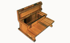 Cedar 2-Tier Storage Step 36"