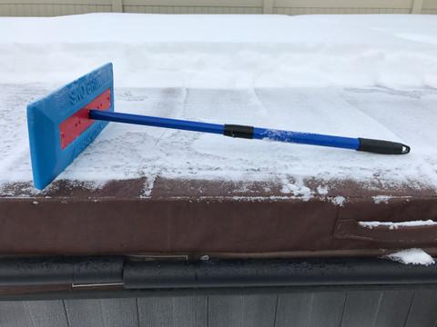 Hot Tub Cover Snow Broom
