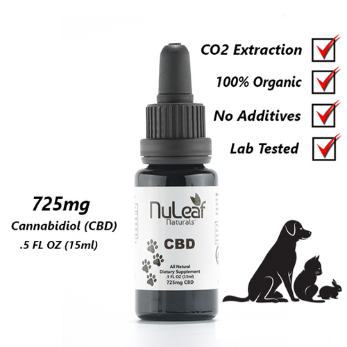 NuLeaf Full Spectrum Pet CBD Oil 725mg .5oz