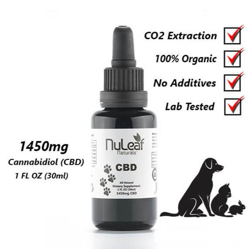 NuLeaf Full Spectrum Pet CBD Oil 1450mg 1oz
