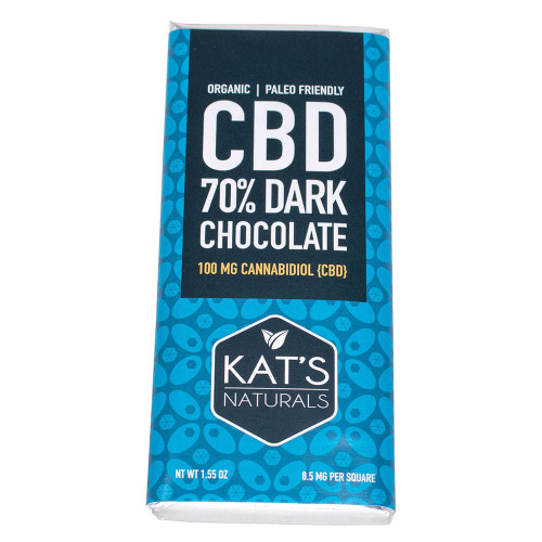 Kat's Naturals Hemp Dark Chocolate 100mg