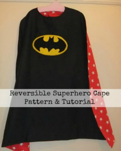 Reversible Super Hero Cape Tutorial (Sew & Non Sew Versions!)