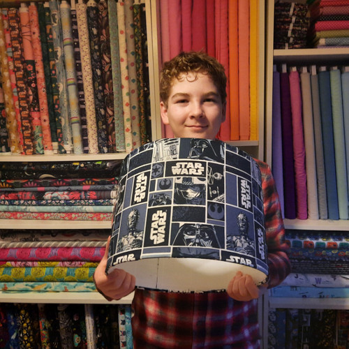 Make Your Own Fabric Lampshade - Photo Tutorial