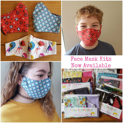 Reusable Fitted Face Mask Kits - Instructions & Video