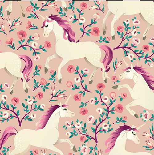 Little Johnny - Magical Unicorns (Pink) - 150cm Wide - £10 p/m
