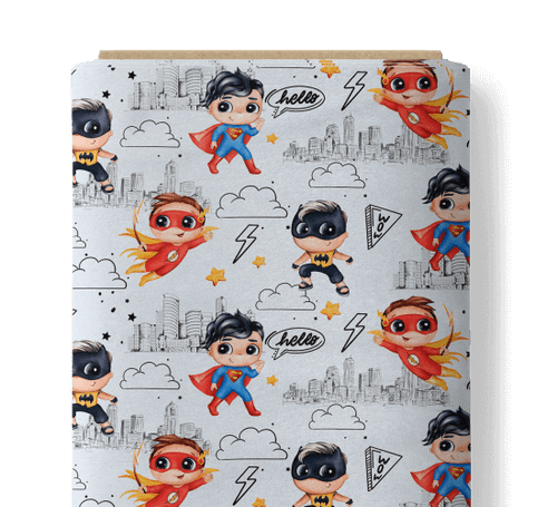 Apoz - Super Hero (White) - 156cm Wide - £14 p/m