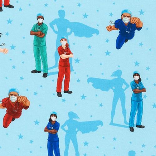 Robert Kaufman - Frontline Heroes - Doctors & Nurses (Blue) - £14 p/m *