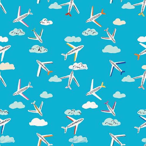 Dashwood - Lazy Days - Aeroplanes (Blue) - £13 p/m