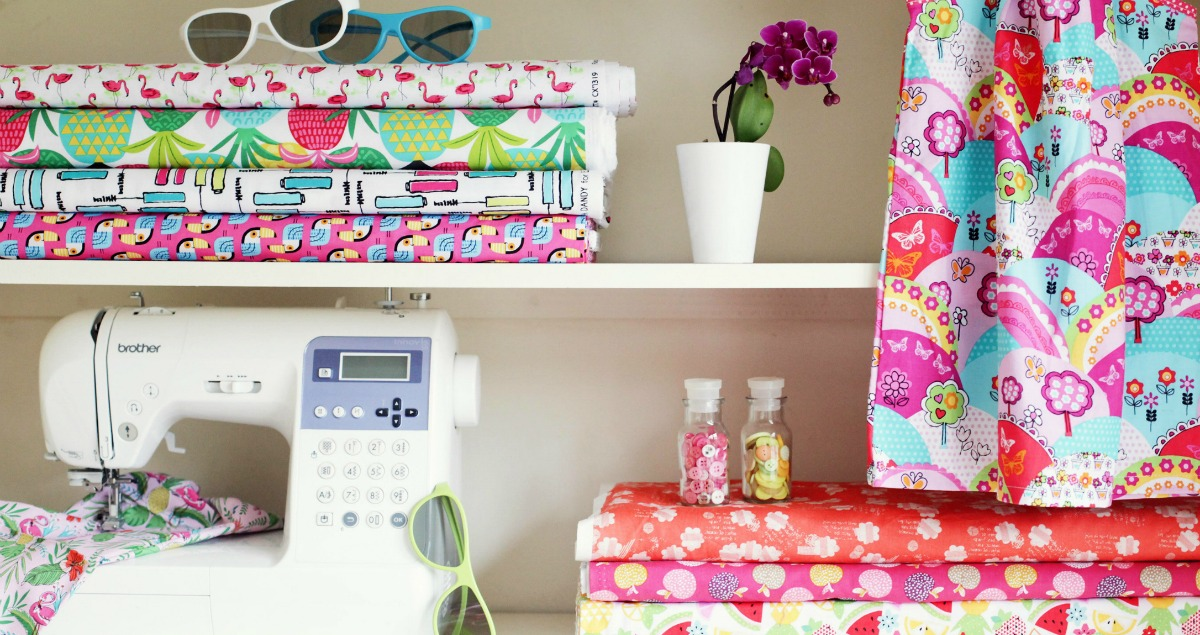 Gorgeous colourful cotton fabrics perfect for sewing projects
