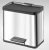 Duo Trento 19 Plus 11 Stainless Steel Recycle Bin 30 Litres