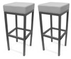Pair of Cube Bar Stools White