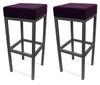 Pair of Cube Bar Stools Purple