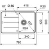 Franke Basis BFG611-78 Fragranite Onyx Kitchen Sink