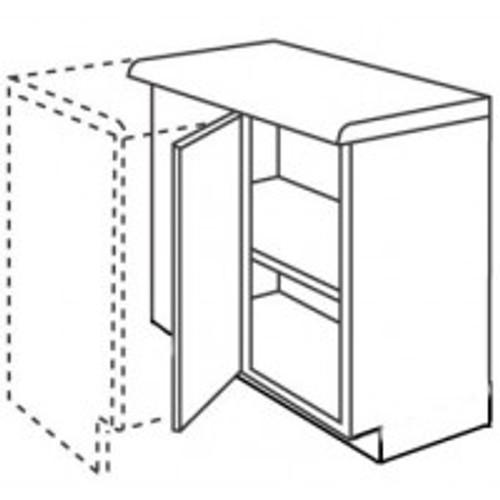 Ballina Cream Slab Range (800mm Cabinet) 800mm Corner Base Unit