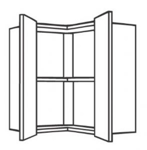 Ballina Cream Slab Range 650mm L-Shaped Corner Wall Unit