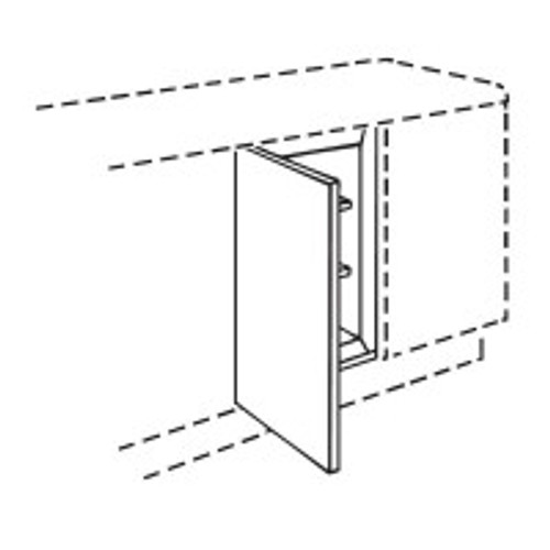 Colonmel Modern Cream Slab Gloss 600mm Appliance Door