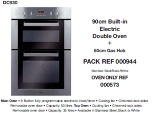 Double Multifunction Oven to Suit Tall Housing