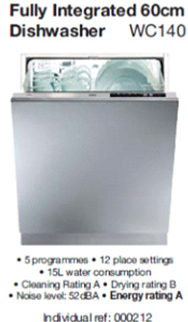Fully Integrated 60cm Dishwasher (full height door)