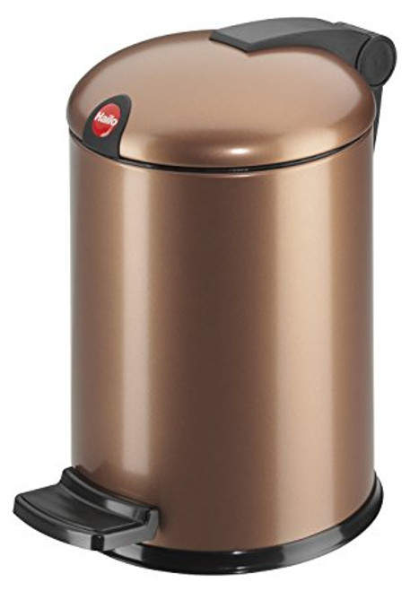 Hailo 4 Litre Bathroom Bin in Copper