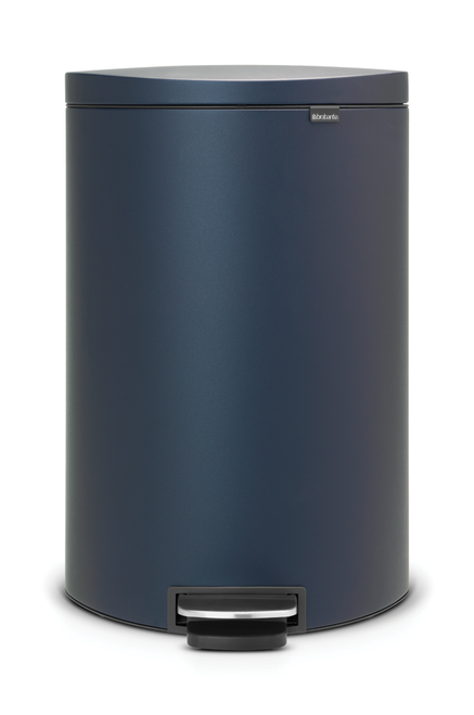 Brabantia 40Litre Pedal Bin with Flatback in Mineral Blue