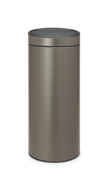Brabantia 30Litre Touch Bin in Platinum