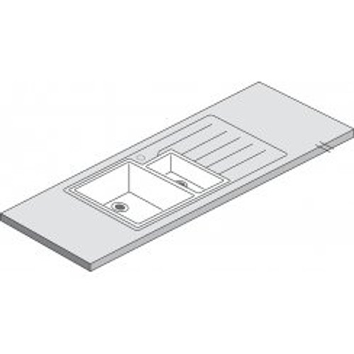 Maia Mocha 1.5 Designer White Acrylic Bowl - 1800 x 650 x 42mm/28mm