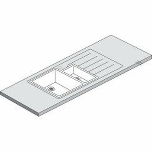 Maia Vulcano 1.5 Designer White Acrylic Bowl - 3600 x 650 x 42mm/28mm
