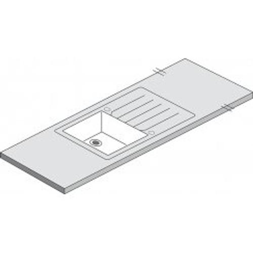 Maia Vulcano White Acrylic Sink 1.0 - 1800 x 650 x 42mm/28mm