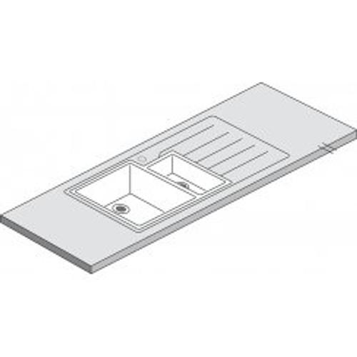 Maia Vulcano 1.5 Designer White Acrylic Bowl - 1800 x 650 x 42mm/28mm