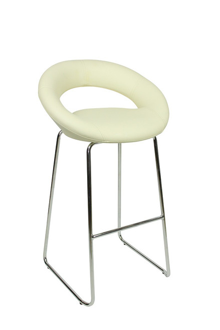 Sorrento Kitchen Fixed Height Curved Bar Stools Cream
