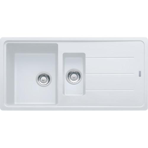Franke Basis BFG651 Fragranite Polar White Kitchen Sink
