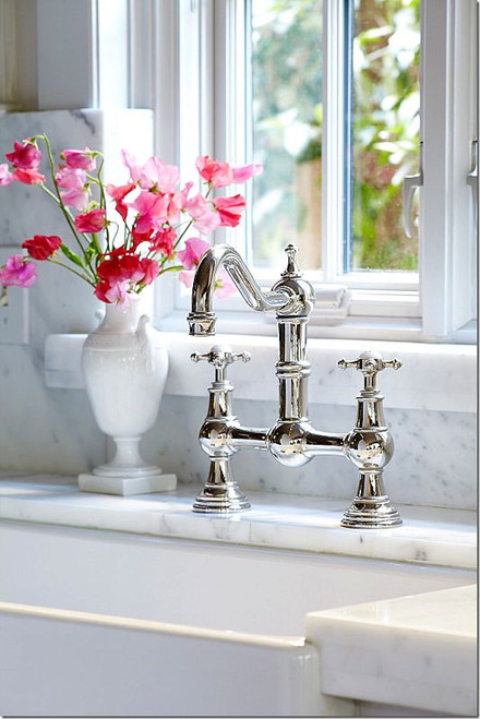 Perrin & Rowe Provence 4750 (Crosshead Handles) Kitchen Tap