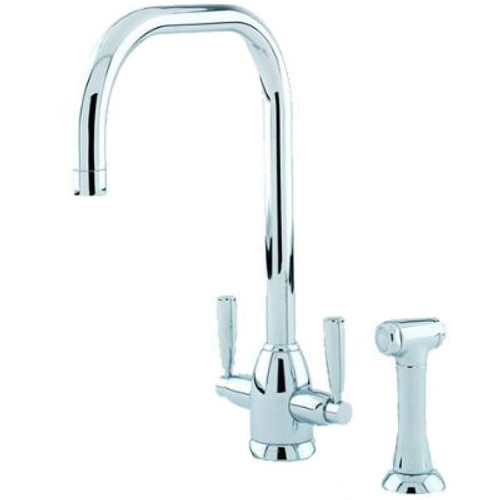Perrin & Rowe Oberon - U Spout 4868 (with Rinse) Kitchen Tap